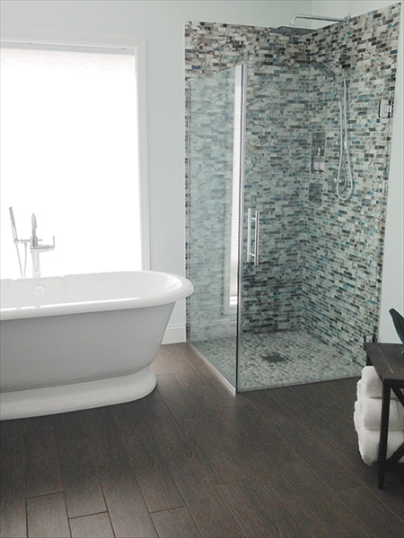 Glass Mosaic Shower Installation